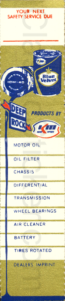 Deep-Rock Kerr-McGee Oil Change Sticker
